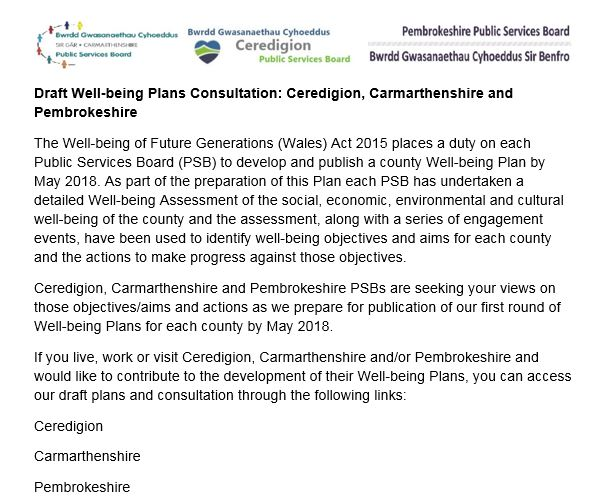 Plans consultation website